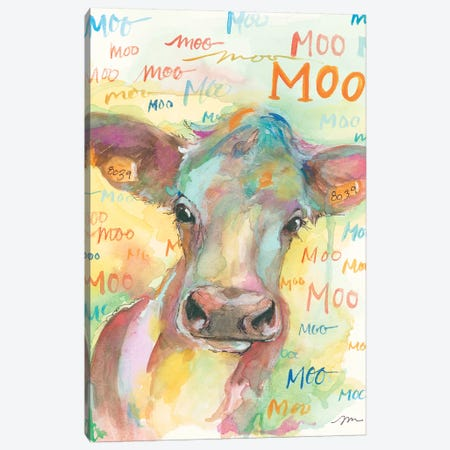 Country Cow Canvas Print #MNG4} by Jessica Mingo Canvas Artwork