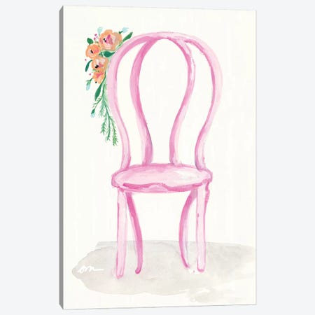 Floral Chair I Canvas Print #MNG54} by Jessica Mingo Canvas Artwork