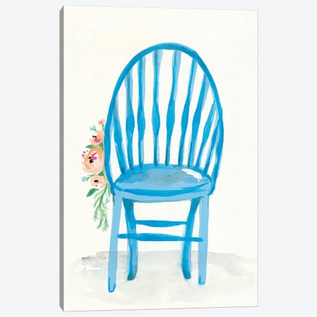 Floral Chair II Canvas Print #MNG55} by Jessica Mingo Canvas Art