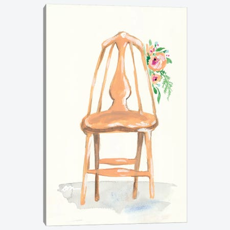 Floral Chair III Canvas Print #MNG56} by Jessica Mingo Canvas Art