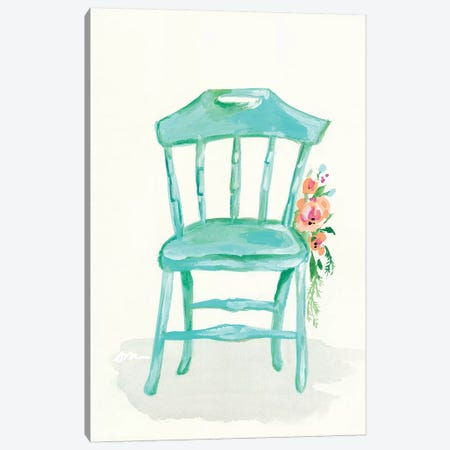 Floral Chair IV Canvas Print #MNG57} by Jessica Mingo Canvas Artwork