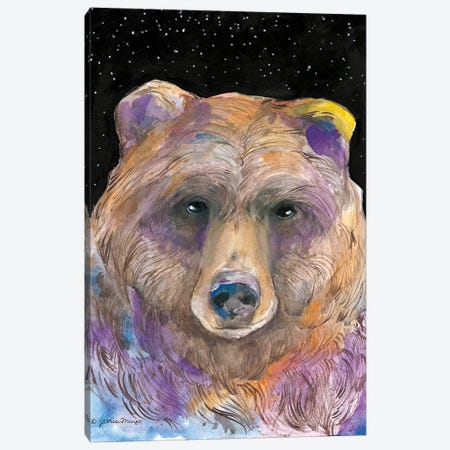 Galaxy Bear Canvas Print #MNG60} by Jessica Mingo Canvas Artwork