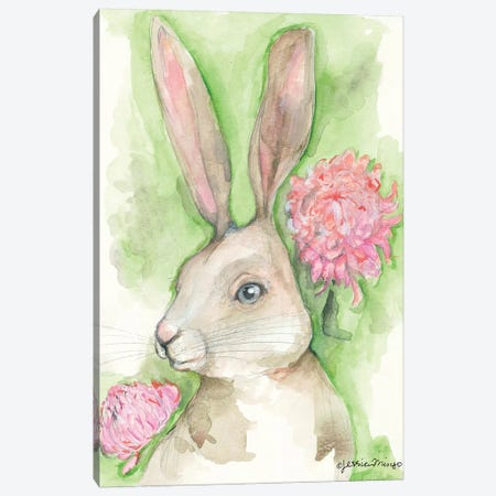 Ruby the Rabbit          Canvas Print #MNG65} by Jessica Mingo Canvas Art Print