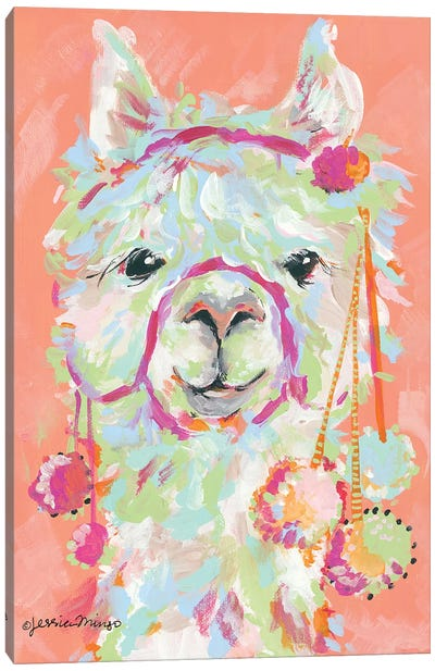 Llama Love Canvas Art Print