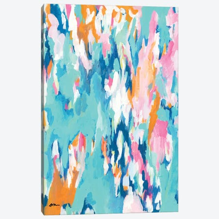 Abstract Aqua Canvas Print #MNG71} by Jessica Mingo Canvas Art Print