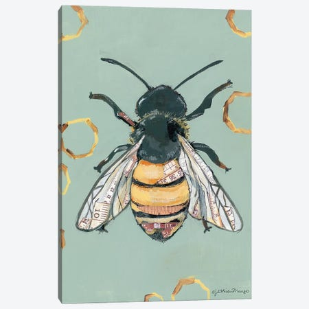 Bee Canvas Print #MNG72} by Jessica Mingo Canvas Art Print