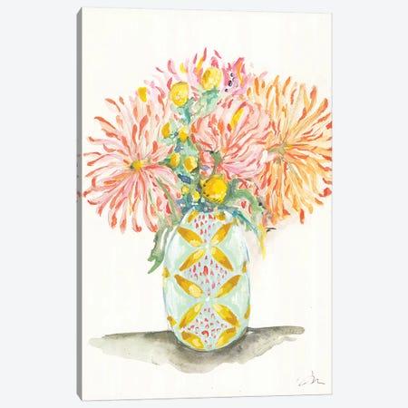 Chrysanthemums 3-Piece Canvas #MNG75} by Jessica Mingo Canvas Artwork