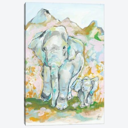 Elephant Summer Canvas Print #MNG76} by Jessica Mingo Canvas Art
