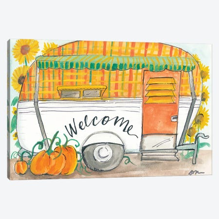 Fall Camper Canvas Print #MNG77} by Jessica Mingo Canvas Wall Art