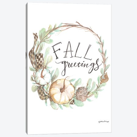 Fall Greetings Canvas Print #MNG78} by Jessica Mingo Canvas Print