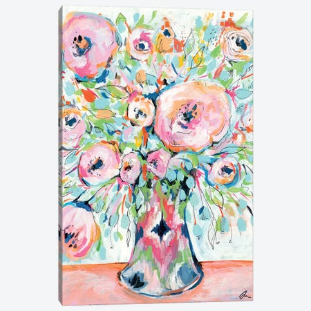 Ikat Spring Canvas Print #MNG84} by Jessica Mingo Canvas Print