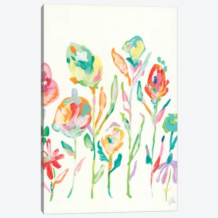 Mod Flowers I Canvas Print #MNG86} by Jessica Mingo Art Print