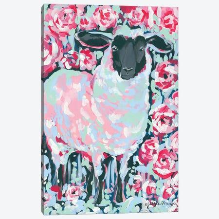 My Sheep Rose Canvas Print #MNG8} by Jessica Mingo Art Print