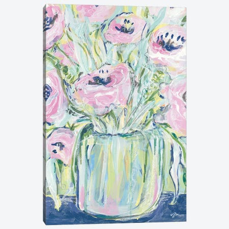 Peonies Canvas Print #MNG90} by Jessica Mingo Canvas Print
