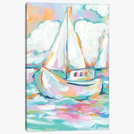 Pink Sea Canvas Print #MNG91} by Jessica Mingo Canvas Art Print