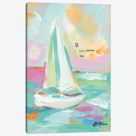 Sailboat I Canvas Print #MNG93} by Jessica Mingo Canvas Art Print