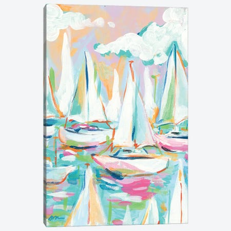 Sailboat Sea Canvas Print #MNG95} by Jessica Mingo Canvas Wall Art