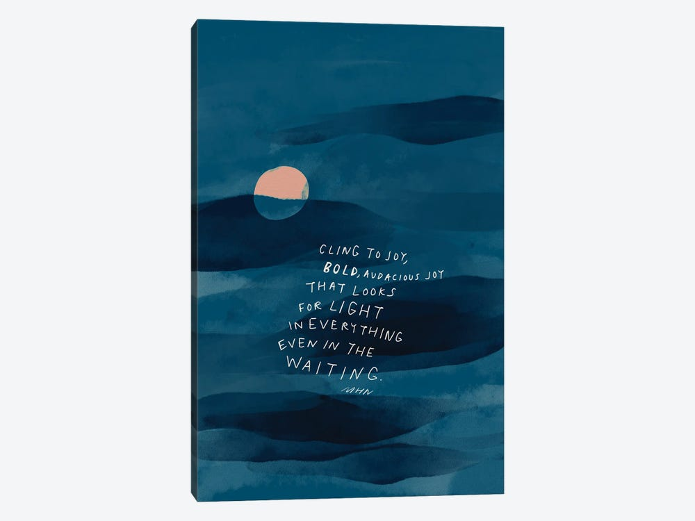 Cling To Joy Navy Blue Night by Morgan Harper Nichols 1-piece Canvas Print
