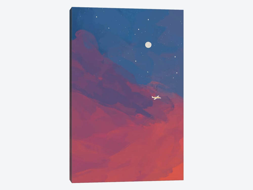 Airplane In Night Sky by Morgan Harper Nichols 1-piece Art Print
