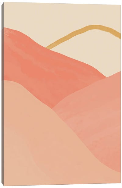 Mountains In Pink Canvas Art Print
