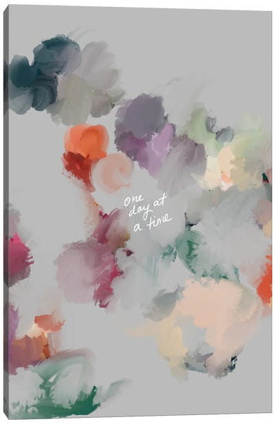 One Day At A Time (Gray) Canvas Art Print
