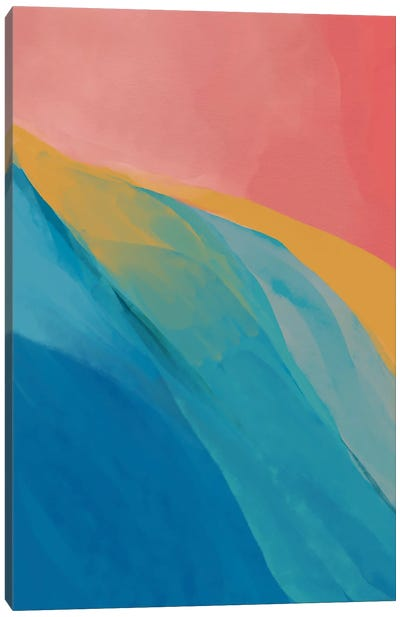 Abstract Primary Colors Canvas Art Print