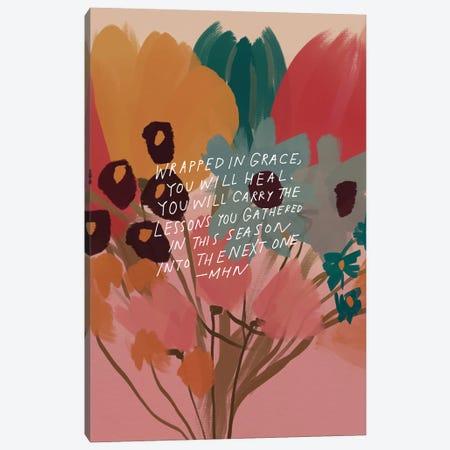 Flower Bouquet (Wrapped In Grace) Canvas Print #MNH171} by Morgan Harper Nichols Canvas Art Print