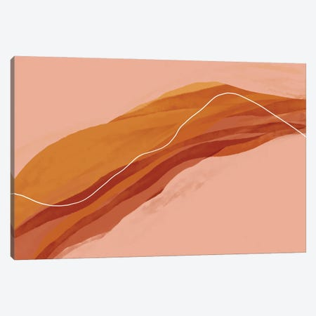 Abstract Red And Gold On Peach Canvas Print #MNH173} by Morgan Harper Nichols Canvas Print