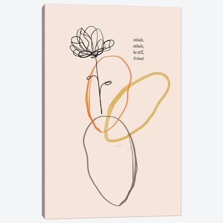 Inhale Exhale Flower Doodle Canvas Print #MNH174} by Morgan Harper Nichols Canvas Artwork