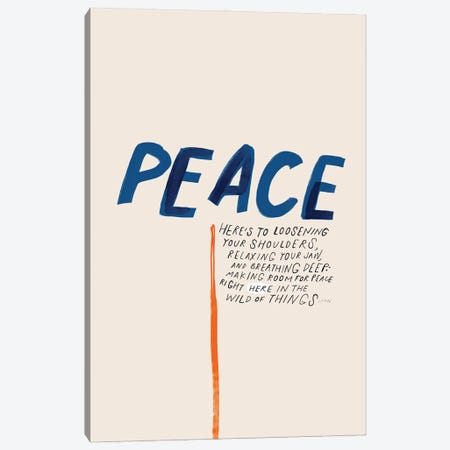 Peace: To Loosening Your Shoulders Canvas Print #MNH179} by Morgan Harper Nichols Canvas Print
