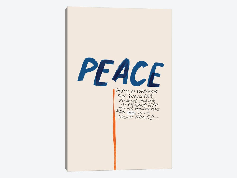 Peace: To Loosening Your Shoulders by Morgan Harper Nichols 1-piece Canvas Art Print