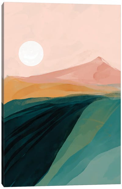 Emerald Canyon Canvas Art Print
