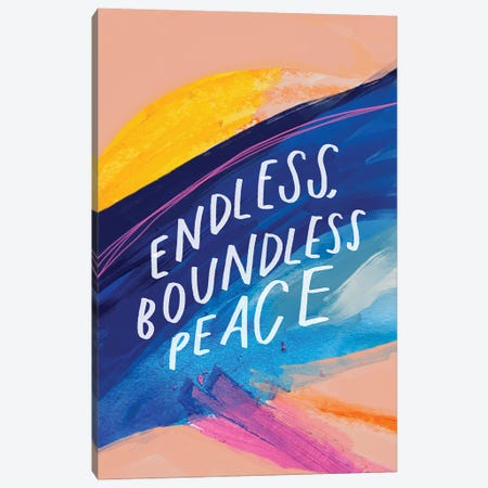 Endless Boundless Peace Canvas Print #MNH18} by Morgan Harper Nichols Canvas Artwork