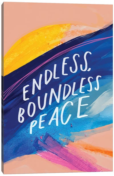 Endless Boundless Peace Canvas Art Print