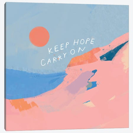 Keep Hope Carry On Canvas Print #MNH30} by Morgan Harper Nichols Canvas Artwork