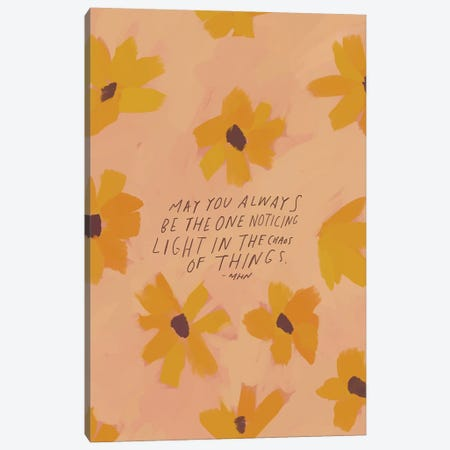 Light In The Chaos Of Things Canvas Print #MNH33} by Morgan Harper Nichols Canvas Wall Art