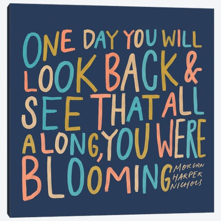 One Day Colorful Canvas Print #MNH42} by Morgan Harper Nichols Art Print