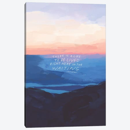 Right Here In The Waiting Canvas Print #MNH47} by Morgan Harper Nichols Canvas Art