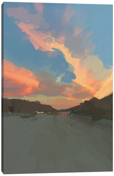 Sunset Road Canvas Art Print