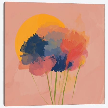 Messy Flowers In The Sun Canvas Print #MNH66} by Morgan Harper Nichols Canvas Art