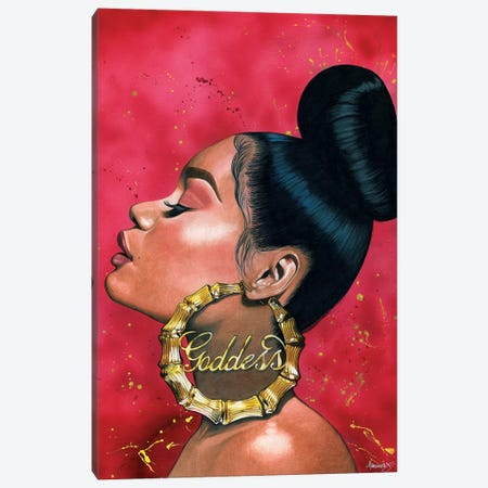Goddess Canvas Print #MNJ10} by Manasseh Johnson Canvas Artwork