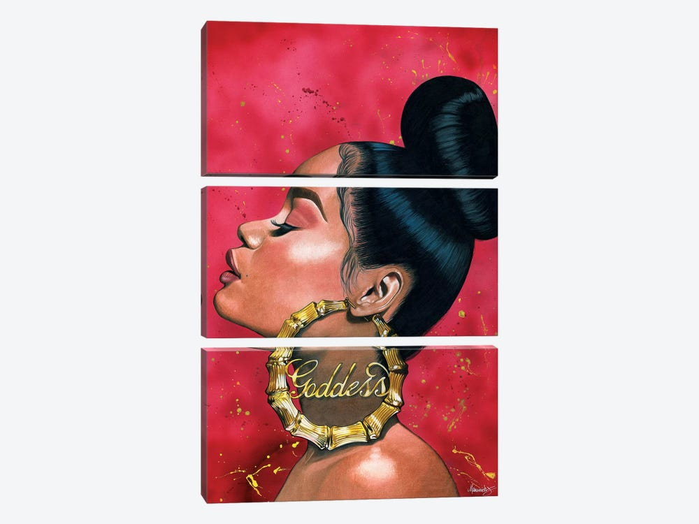 Goddess by Manasseh Johnson 3-piece Canvas Print