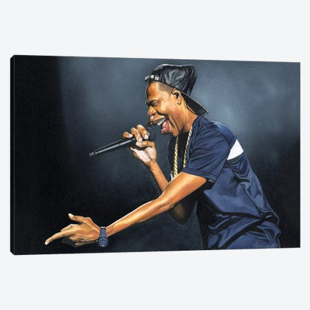 Jay-Z Canvas Print #MNJ13} by Manasseh Johnson Canvas Artwork