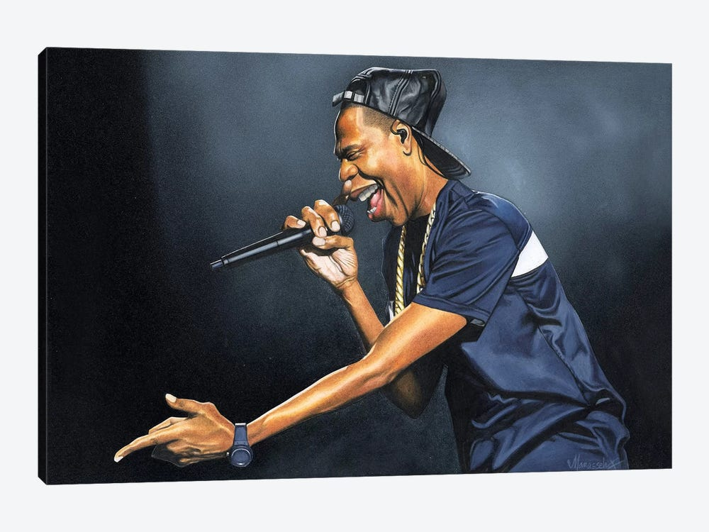 Jay-Z by Manasseh Johnson 1-piece Canvas Art