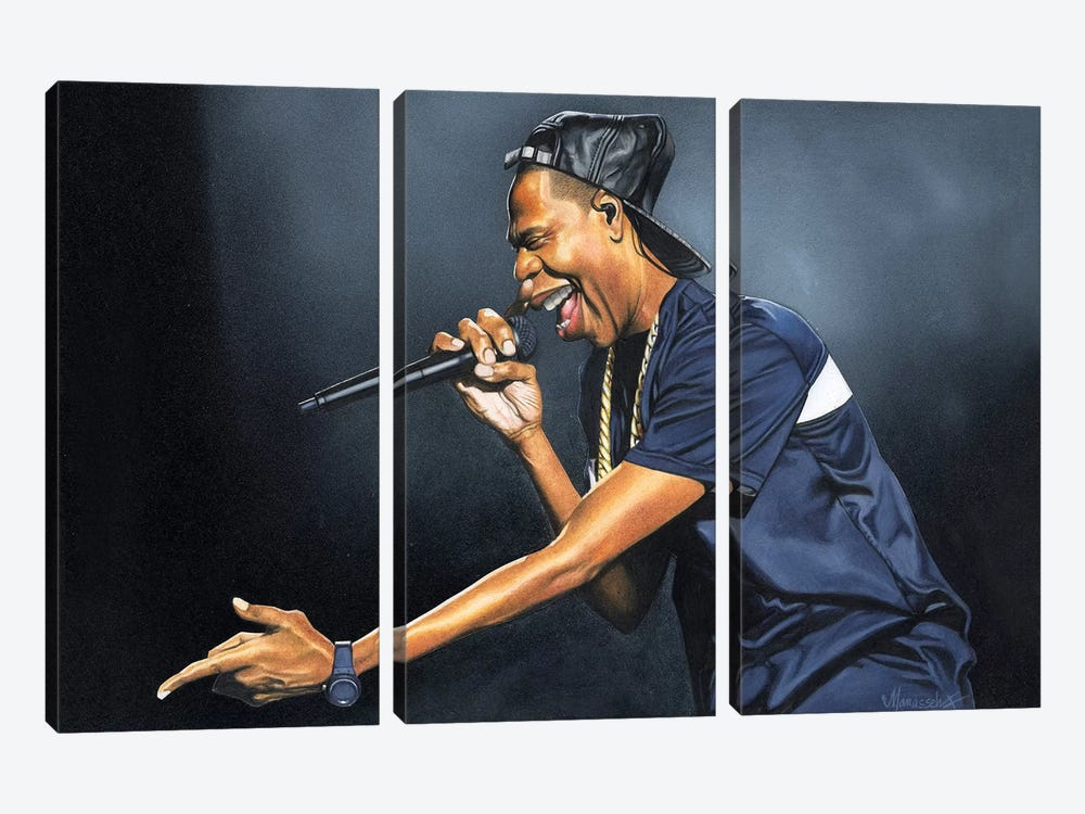 Jay-Z by Manasseh Johnson 3-piece Canvas Wall Art