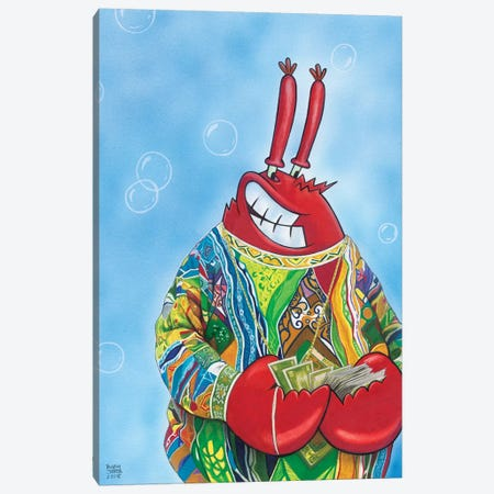 Krabbie Smalls Canvas Print #MNJ14} by Manasseh Johnson Canvas Art Print