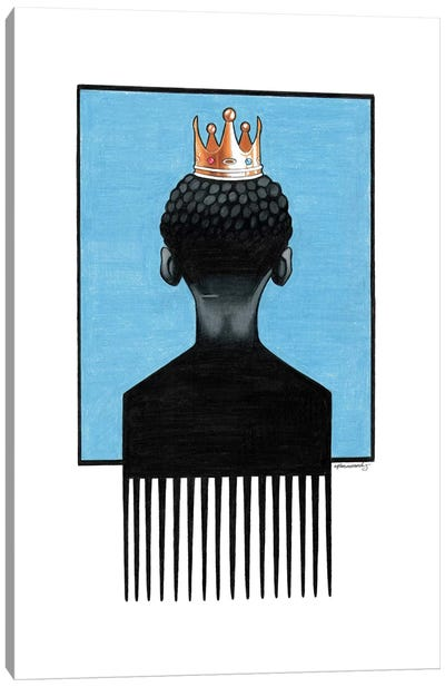 Little Prince Afropick Canvas Art Print