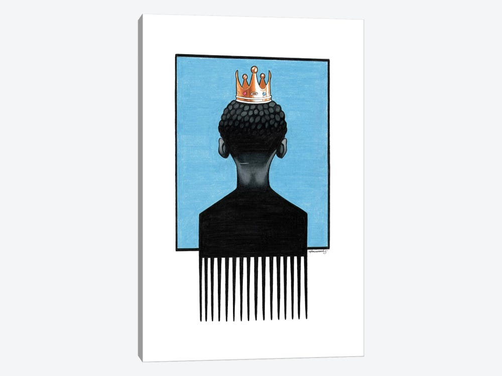 Little Prince Afropick by Manasseh Johnson 1-piece Canvas Art
