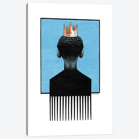 Little Prince Afropick Canvas Print #MNJ15} by Manasseh Johnson Canvas Art Print