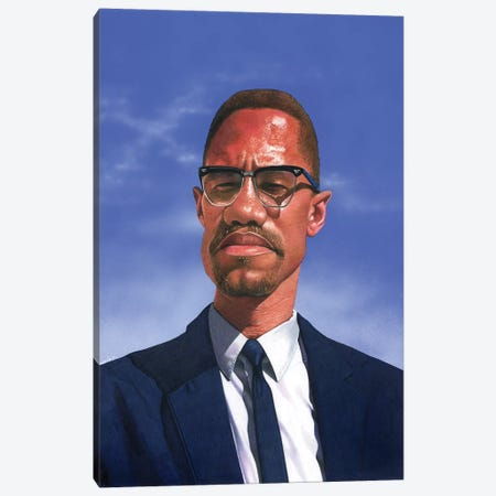 Malcolm X Canvas Print #MNJ16} by Manasseh Johnson Art Print